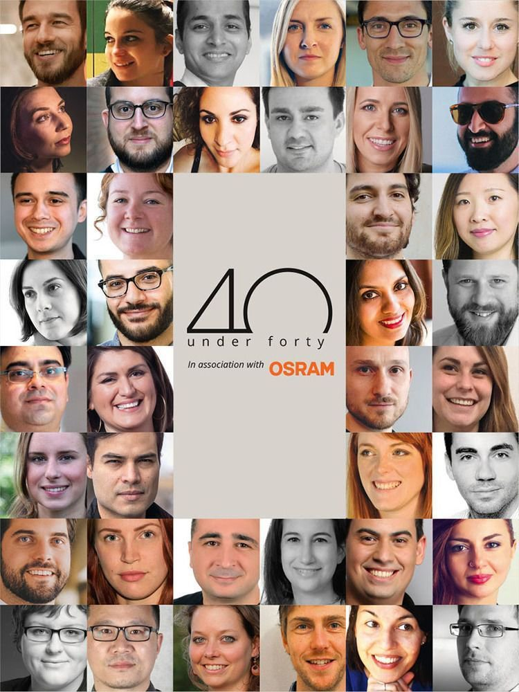 40 under forty - lighting design award